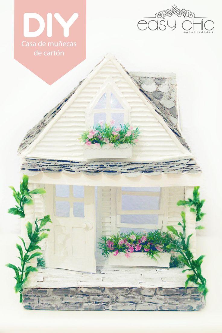 como hacer una casa de muñecas con carton, cardboard doll house