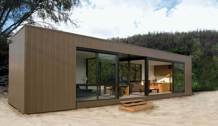 660-square-foot prefab home from Marmol Radziner Prefab—features insulated glass with UV protection and structural insulated panels