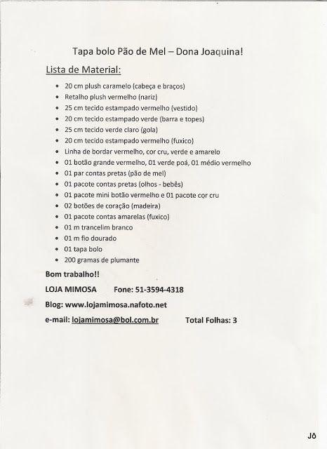 creditos:  picasaweb  album: 37----------- pagina Eu Amo Artesanato  -------------------------------------------------...