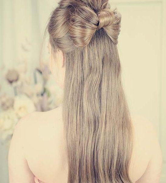 Half up Half down Straight Wedding Hairstyles
