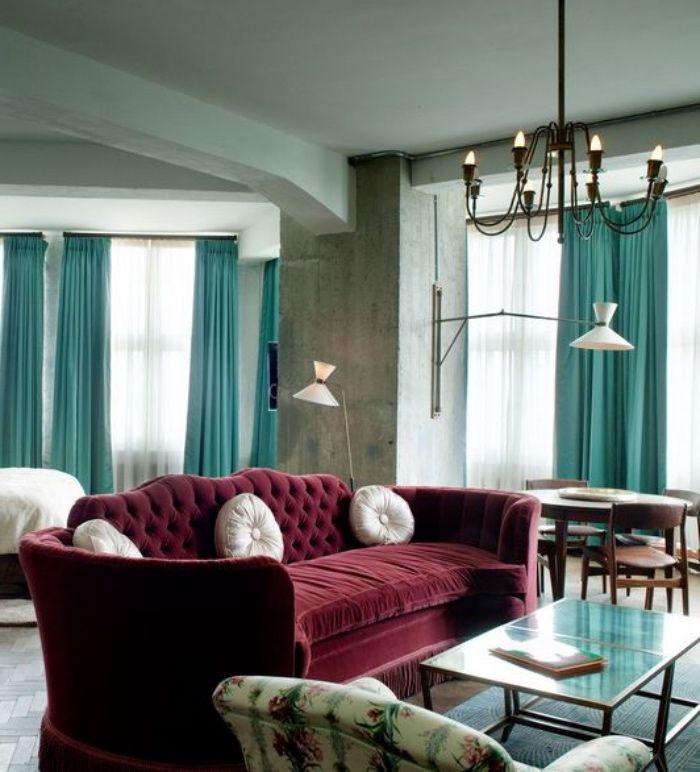 les 25 meilleures id es de la cat gorie rideaux bordeaux. Black Bedroom Furniture Sets. Home Design Ideas