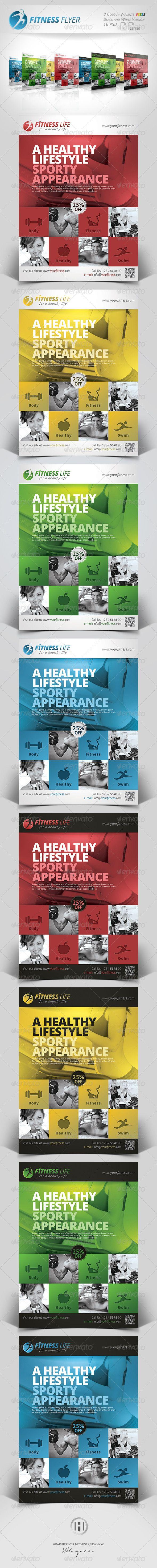 Fitness - Sports Business Flyer by Hüseyin Kayacı, via Behance
