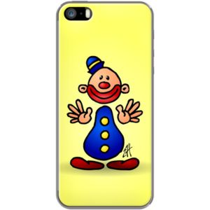 Cheerful circus clown By CardVibes for Apple  iPhone 5/5s #TheKase #Cardvibes #Tekenaartje #iPhone #Smartphone #cover #case