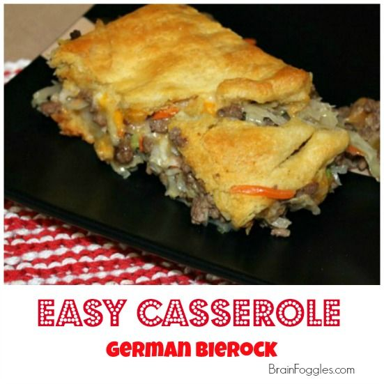 Easy Dinner Casserole: German Bierock