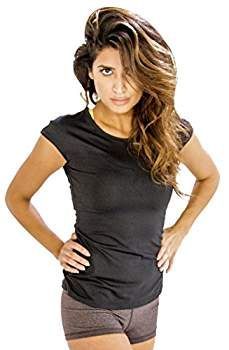 Shop This Black Cap Sleeve #Gym #Tees for Women at Amazon Women's Clothing Store.
