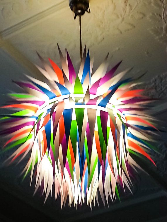 Fluro Artichoke Paper Light Shade Lamp by MelsCreativeDesigns, $65.00