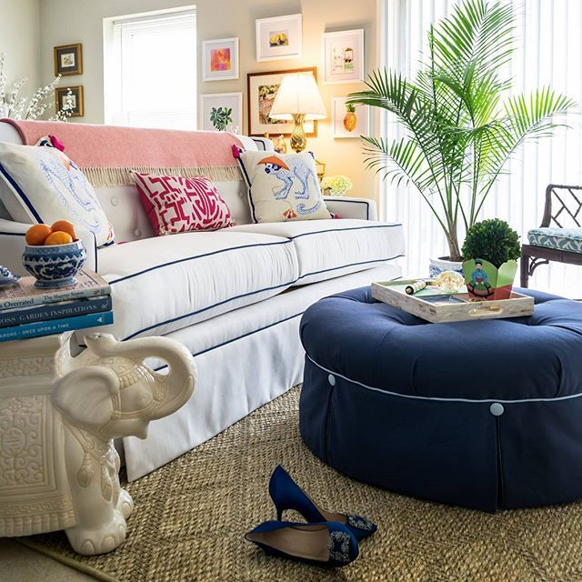 The Charlotte Sofa U0026 Uptown Ottoman Custom Made For Summer At Our NC  Factory! Tour