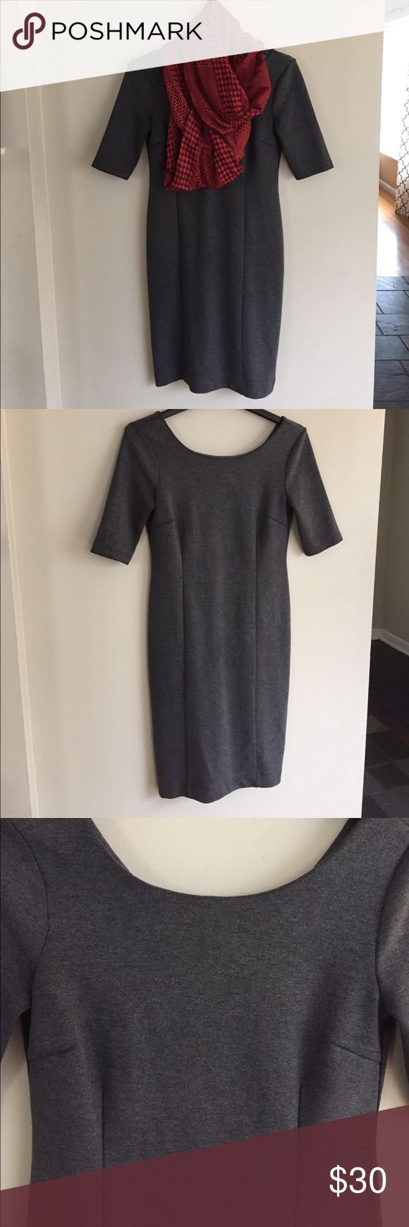 Banana Republic midi dress EUC. Zips up the back. Very flattering on. Has a slight silver shimmery look to it. Perfect for work or going out Banana Republic Dresses Midi