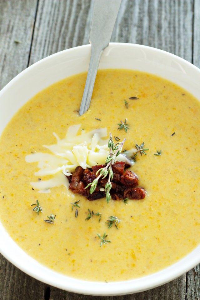 Картофельный суп-пюре с сыром и беконом » Рецепты » Кулинарный журнал Насти Понедельник. Кулинарные рецепты с фото.