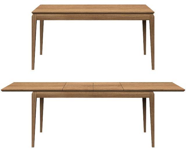 Oak table AVANGARDE. Colour: TOBACCO. - www.miloni.pl/en MILONI: wooden table, oak table, natural wood table, table design, furniture design, modern table