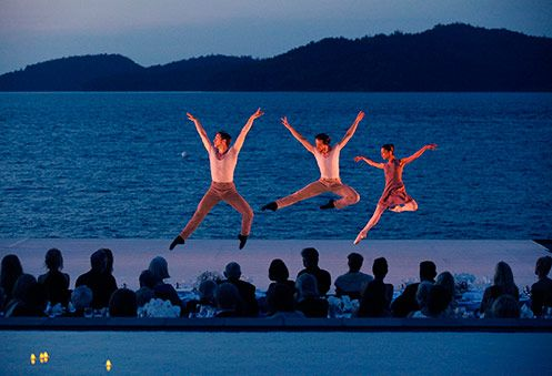 Leaps of beauty. The Australian Ballet performs at qualia. #hamiltonisland