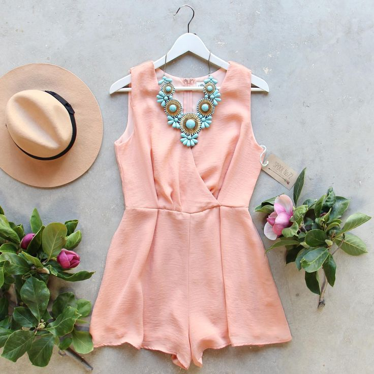 Peach Market Romper...pinned by ♥ wootandhammy.com, thoughtful jewelry.