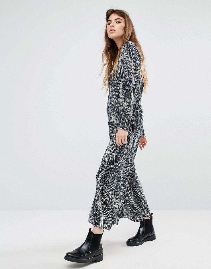 Reclaimed+Vintage+Printed+Plisse+Wide+Leg+Trousers+Co-Ord