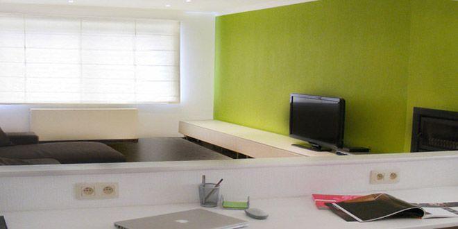 Bureau in woonkamer