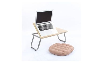 VECELO Adjustable Laptop Table / Desk, Lap Bed Tray With Folding Legs