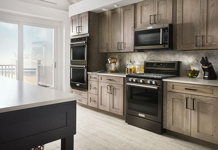 Kitchenaid Black Stainless Steel Will Take Your Breath Away Black Appliances Kitchen Kitchen Appliance Set Kitchen Plans