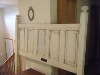 old door headboard