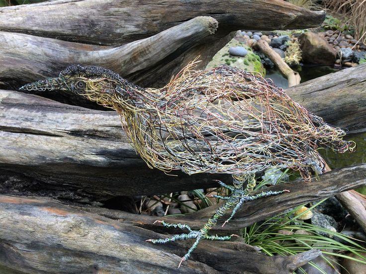 Wire Bird Sculpture Bittern