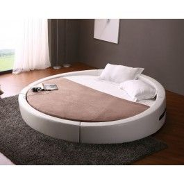Opus - Modern Round Leather Bed  - 1675.0000 i want this