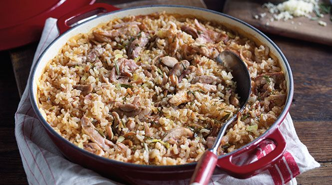 Manu's oven baked chicken risotto - can't wait to make this it looks delicious and is super easy! Campbell's has the best recipes on their website ever