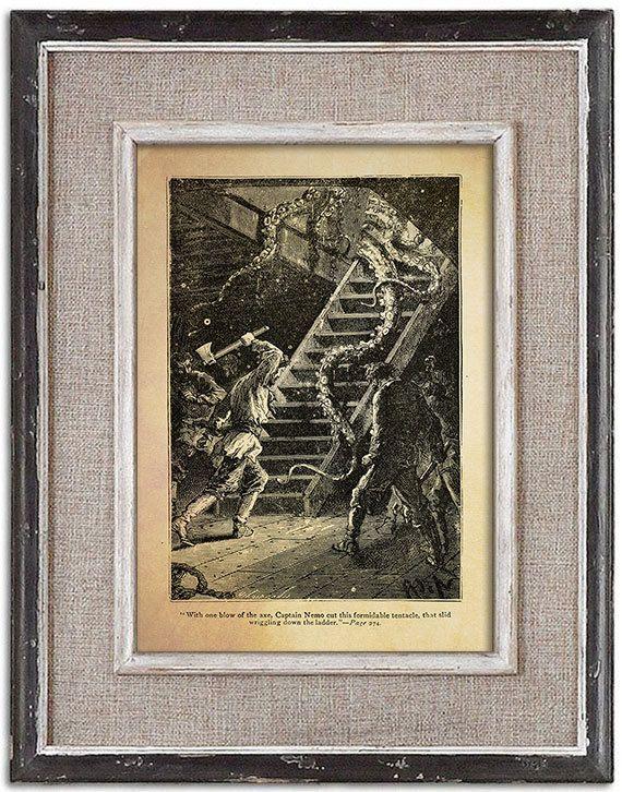 Forgotten vintage illustration of OCTOPUS No.4 by RoyalArtPrints