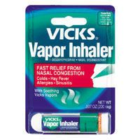 Vicks Vapor Inhaler...I am so addicted to these things...