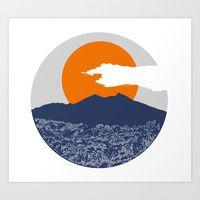 Art Print featuring Mount Batur by nicholas ellinas