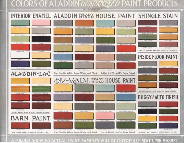 Colour Catalog : Aladdin Guaranteed Paint Products