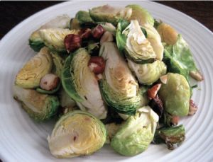 Brussels Sprouts with Browned Butter and Hazelnuts | Primal Blueprint Meal Plan