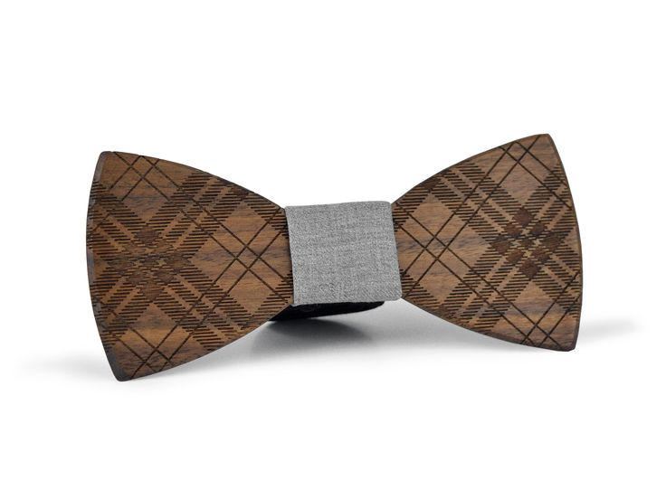 EXALLO | Handcrafted Wooden Bow Tie Gaspard in Walnut Wood.