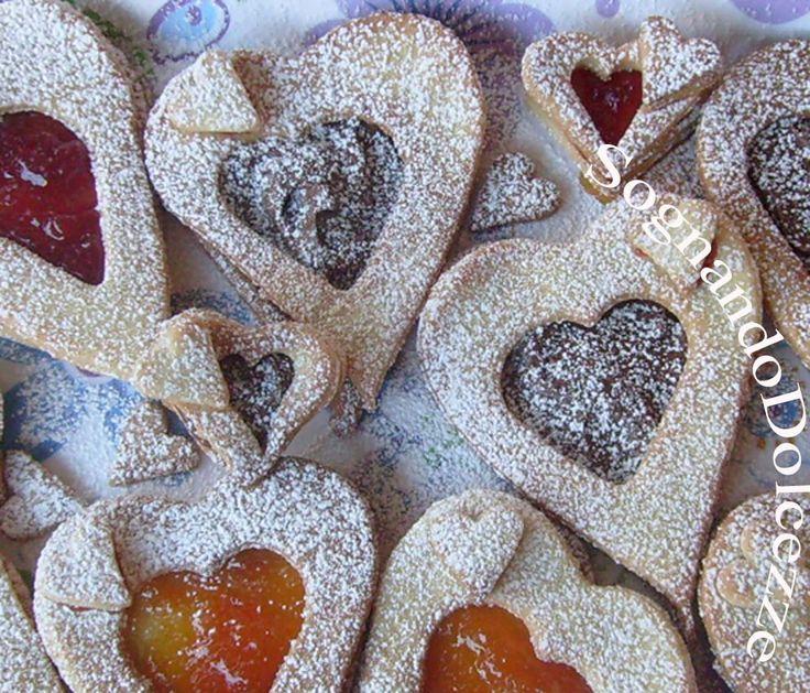 Sognando Dolcezze: Biscotti a cuore con farina di nocciole