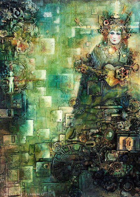 Fragmentation - Fragmentacja - collage by finnabair, AWESOME!!