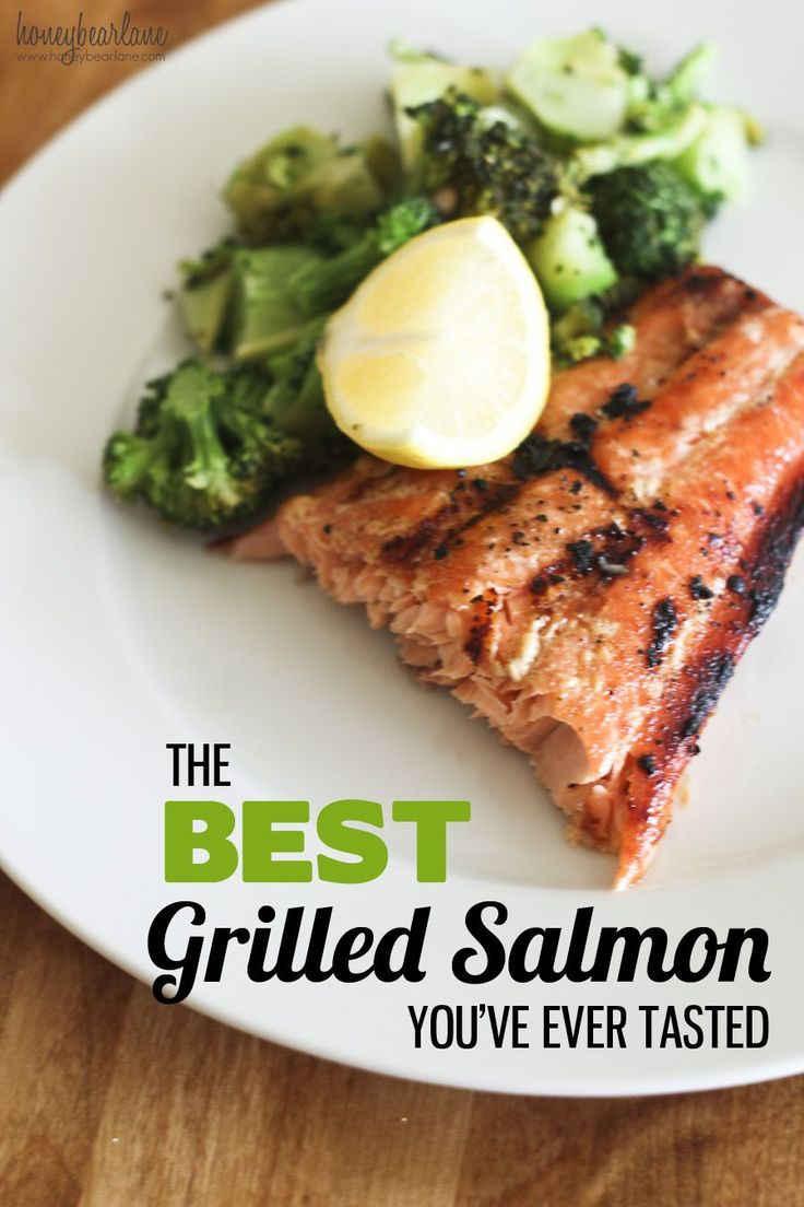 Grilled salmon with asian vegetables recipes