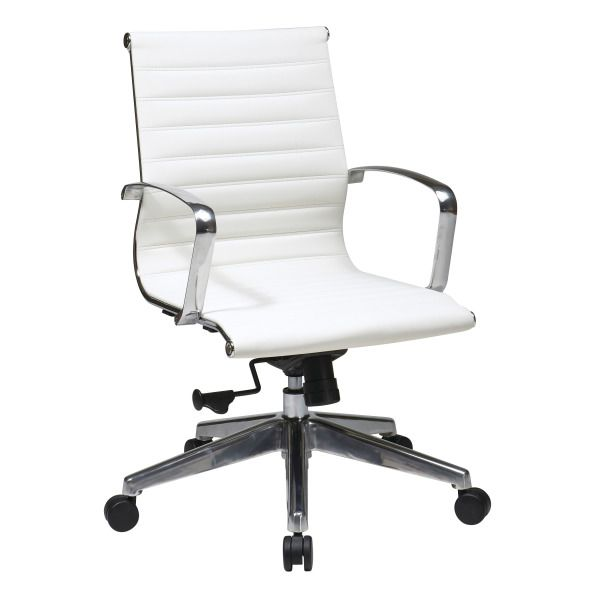 Office Star Products Mid Back White Eco Leather Chair   Overstock  Shopping    The Best Prices on Office Star Products Ergonomic Chairs33 best Ergonomics images on Pinterest   Kneeling chair  Office  . Office Star Ergonomic Chair. Home Design Ideas