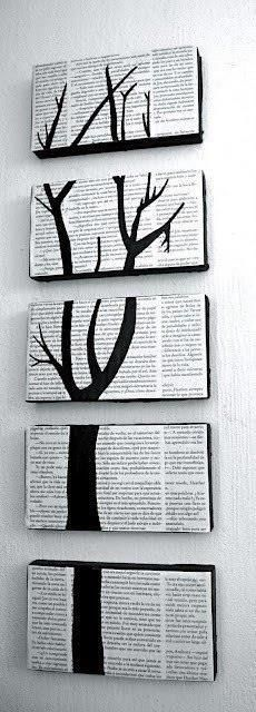 Painting + Newspaper upcycling craft / vielleicht mit Schuhkartondeckeln und anderes motiv
