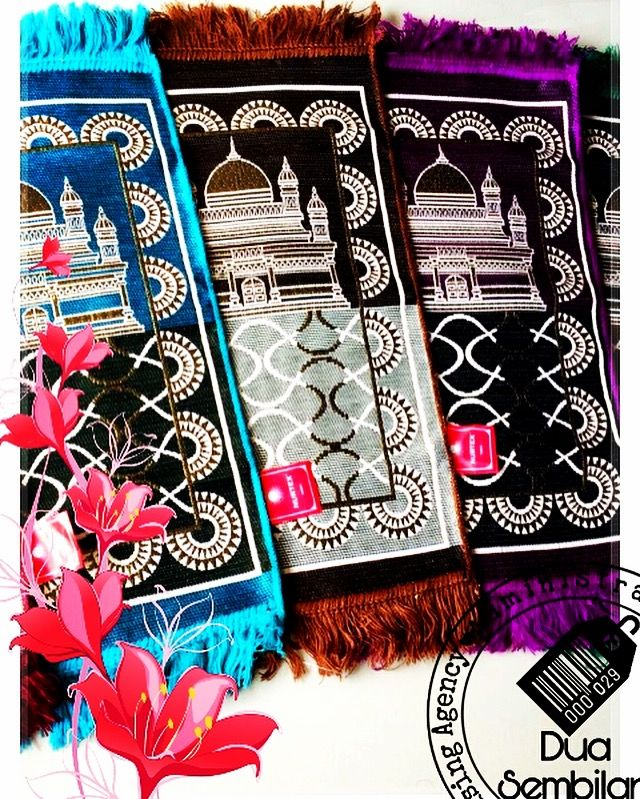 Sajadah | Sejadah Tiga Perempat | Sejadah 3/4 | Three Quarter Islamic Carpets | Muslim Prayer Mats | Islamic Prayer Rugs | Solat | Contemporary & Vibrantly-Coloured Sejadah | Islamic Art | Islamic Patters, Culture & Tradition | Wedding Favours | Various Motifs & Designs | Light Weight | Wedding Door Gifts | Singapore Malay Wedding Souvenirs | Berkat Majlis Pernikahan | Majlis Khatam Quran | Berkat Majlis Berkhatan | Cukur Rambut | TunangSG | Dua Sembilan | Duaa Sembilann