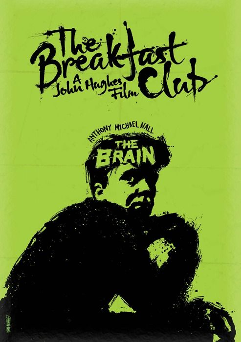 Minimalist Movie Poster: The Breakfast Club by daniel norris