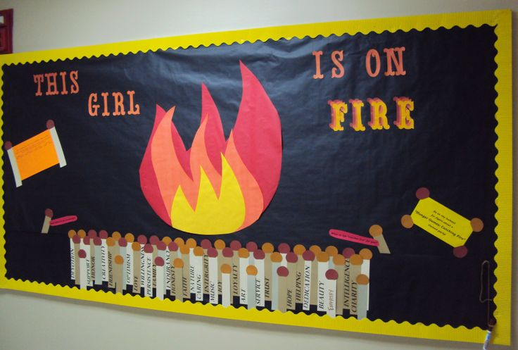 Girl on Fire Board, for personal growth. The matchsticks ...