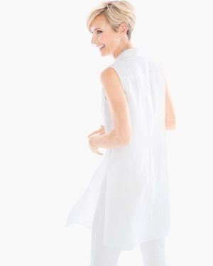 Linen Side-Slit Tunic