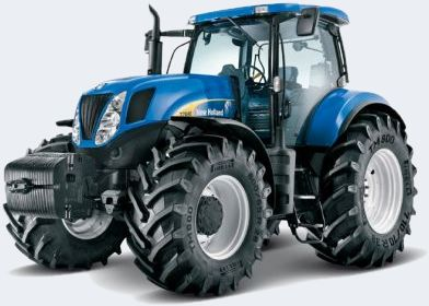 Tractores  Modelo T7060 - New Holland. Posee un nivel de emisión Tier III, modelo - aspiración: turbo Intercooler aire-aire, potencia nominal (ISO TR 14396) 213 cv (157 kw) - 2200 rpm, torque máximo a 1400 rpm 866 Nm, reserva de torque del 27%. Sistema de inyección Bosch High Pressure Common Rail (HPCR).