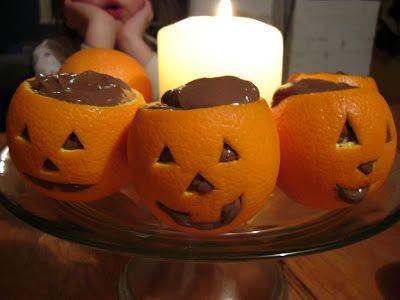 Tout Cru Dans Le Bec: Pour l'Halloween: petites citrouilles au chocolat