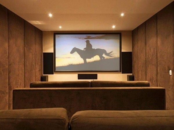 Best How To Decorating Home Theater Rooms Images On Pinterest