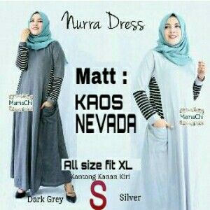 @93000 nura maxi bahan kaos nevada uk all size fit L besar