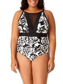 1cdfd70c39 Catalina - Catalina Suddenly Slim Women's Plus-Size Retro Slimming Bandeau  Swimdress One-Piece Swimsuit - Walmart.com