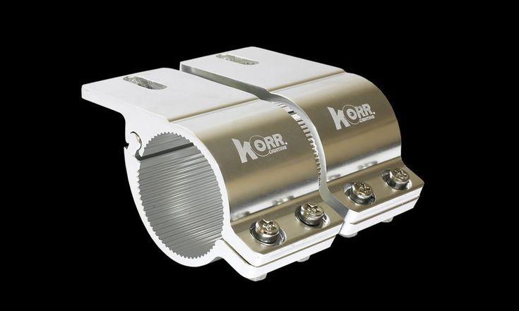 Hard Korr Lighting Universal Bull Bar Brackets Fits Bull Bars 49mm - 54mm Chrome #KorrLighting