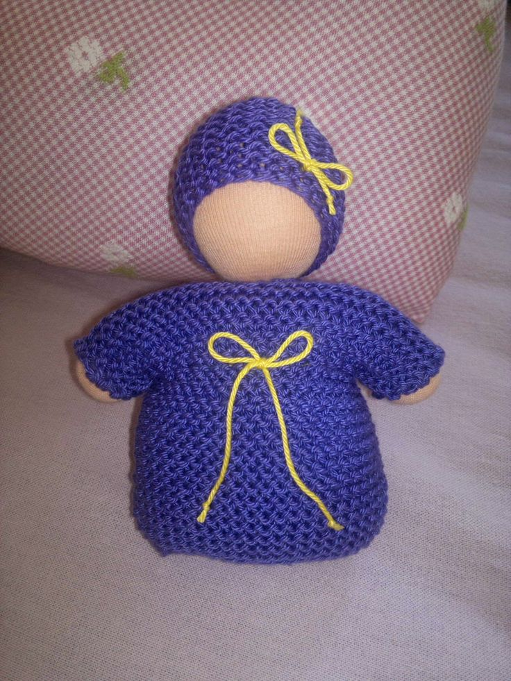 Waldorf baby knitted cotton.