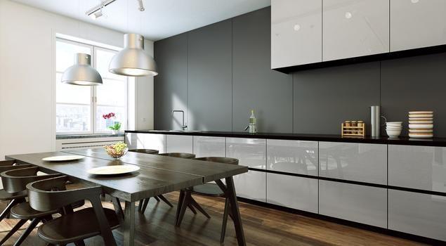 Kolorowe szkło w kuchni na ściany, blaty, fronty mebli. Efektownie i praktycznie.