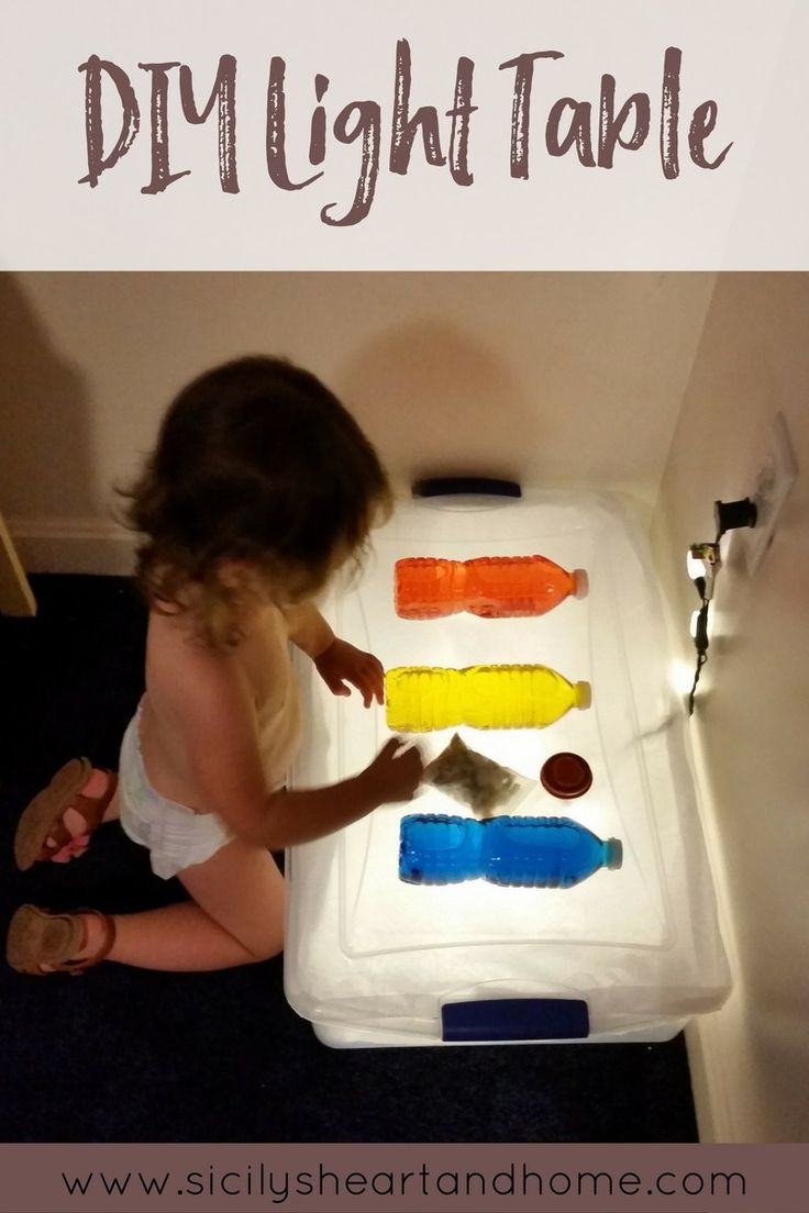 DIY Light Table | Light play is a wonderful experience for even the youngest learners. Click thought to learn how to make your own light table at home for your toddlers and preshoolers to explore.