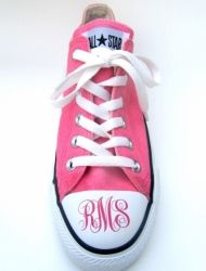 My SG asked for converse for back to schoool...you know she will have her monogram on them now! So cute!