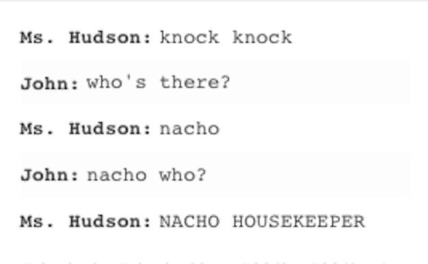 When Mrs. Hudson knock-knocked it out of the park. | 27 Times The Sherlock Fandom Won Tumblr